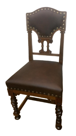 Stuhl Nussbaum restauriert