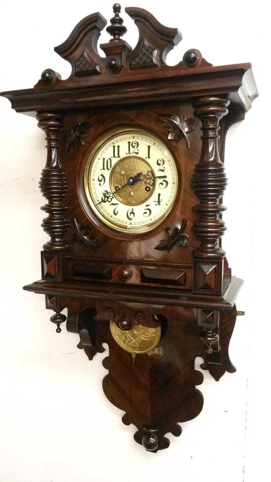 Gründerzeit Wanduhr von 1880 restauriert