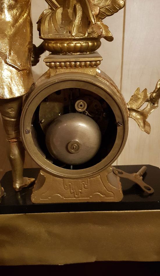 Figuren Kaminuhr Uhrwerk