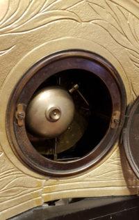 Uhrwerk Französische Kaminuhr mit Schwarzem Marmor